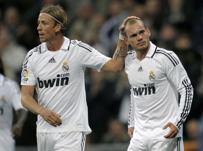 Wesley Sneijder en Guti.