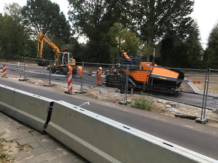 Werkzaamheden aan de Vallestap in Nuenen