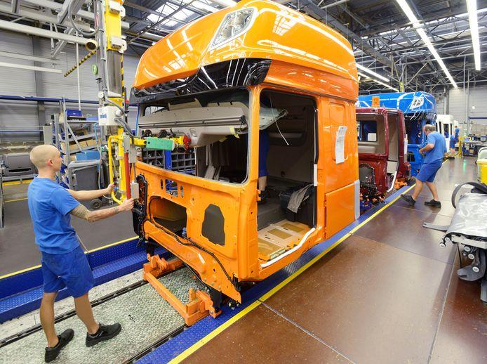 Productie van cabines bij DAF in Westerlo.