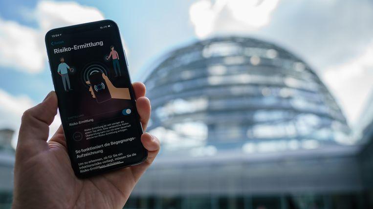 De Duitse Corona Warn-app.