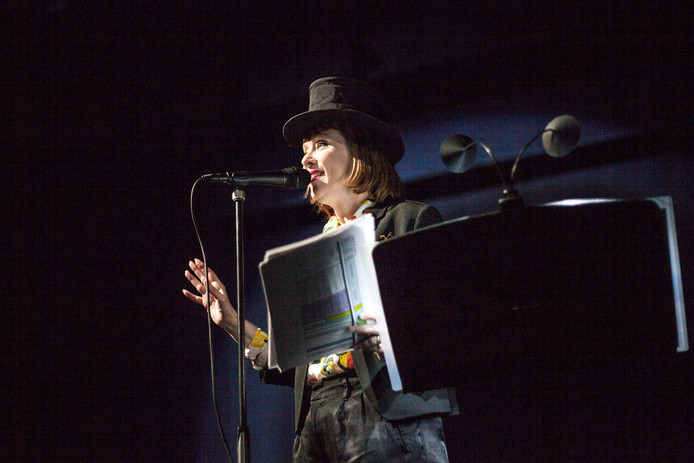 Suzanne Vega in Einstein on the Beach.