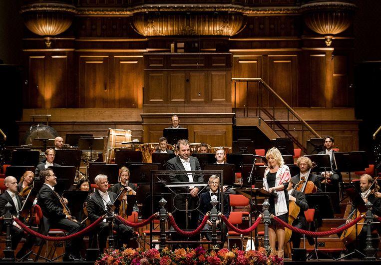 Daniele Gatti wordt geinaugureerd als de nieuwe chef-dirigent van het Koninklijk Concertgebouworkest, op 9 september 2016. Beeld ANP