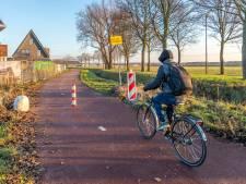 Greppel moet sluipverkeer Albanoweg in Oudenbosch weren van fietspad