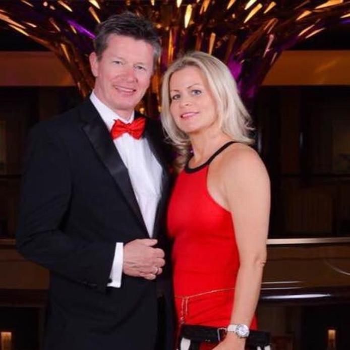 Richard met zijn nieuwe vrouw Emma.