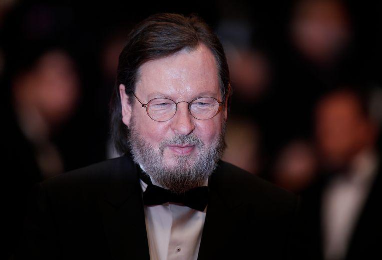 De Deense regisseur Lars von Trier in Cannes.