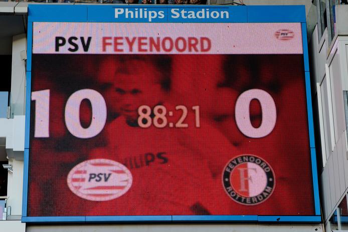 In 2010 won PSV thuis met 10-0 van Feyenoord. De komende wedstrijden hoopt PSV ook veel te scoren zodat het qua doelsaldo in gaat lopen op koploper Ajax.