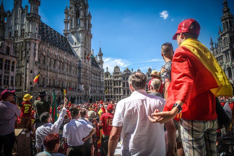 In een bericht werd opgeroepen tot een aanslag tijdens het WK-feest op de Brusselse Grote Markt.