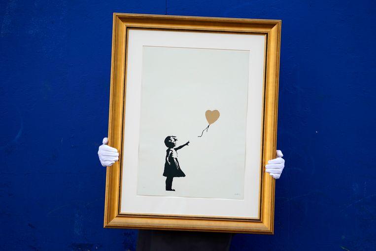 Meisje met Ballon, een van de kunstwerken op Amsterdam Unlocked. Beeld EPA