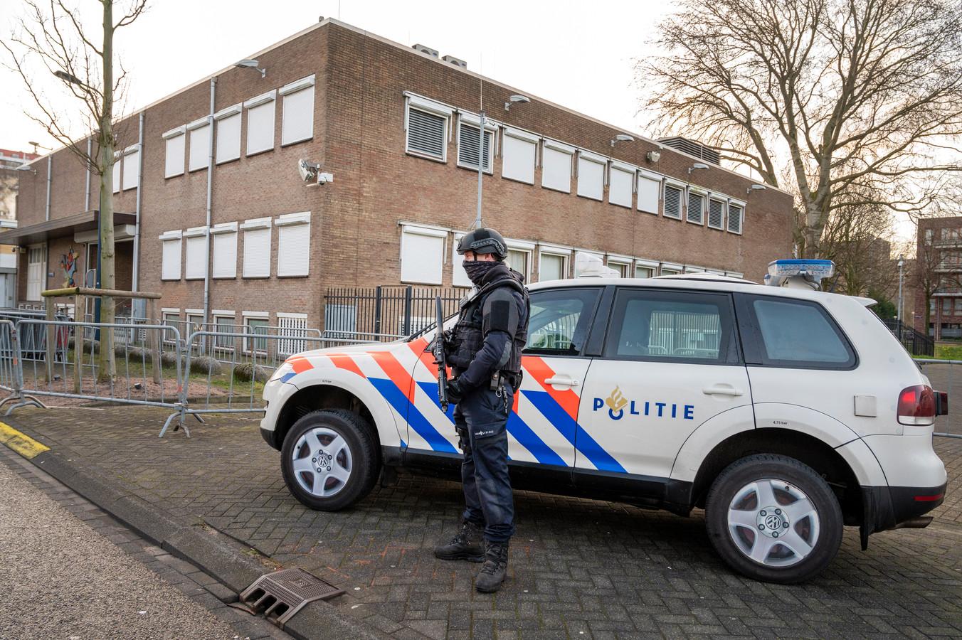 De extra beveiligde rechtbank in Osdorp.