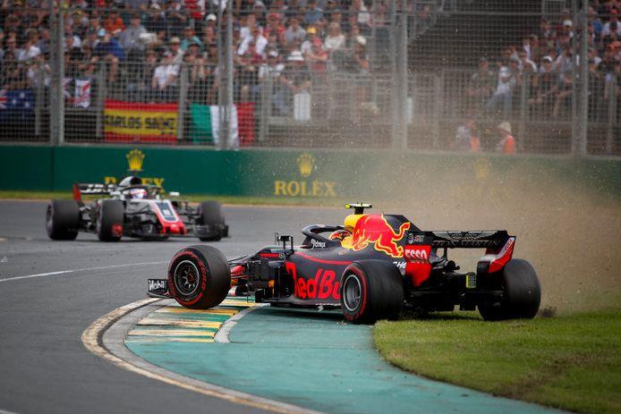 Max Verstappen spinde vorig jaar al vroeg in de wedstrijd