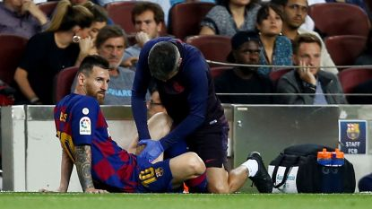 Messi out met blessure aan linkeradductoren