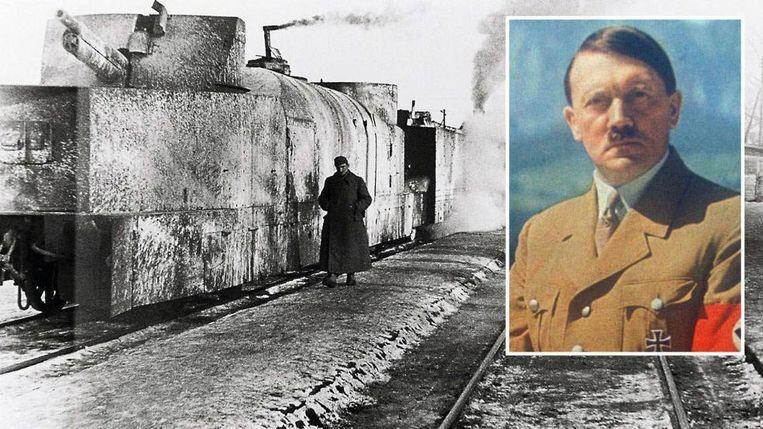 Dergelijke gepantserde trein met afweergeschut werd vorige week ontdekt door een Pool en een Duitser die informatie ingefluisterd kregen van een man op zijn sterfbed. In de buurt van de vindplaats bouwden de nazi's een basis voor Hitler annex tunnelcomplex.