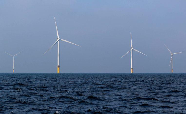 Windmolens in Windpark Eneco Luchterduinen. Beeld REUTERS