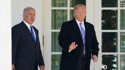 """Trump tijdens bezoek van Netanyahu: """"Vrede tussen Israël en Palestijnen blijft mogelijk"""""""