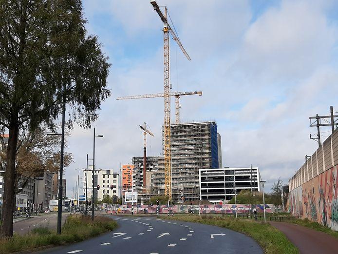 Bouw woningen op Strijp-S in Eindhoven; een deel komt in 2020 gereed, de anderen volgend jaar.
