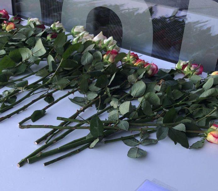 Bij het Omnium werden in oktober bloemen neergelegd wegens het overlijden van Ezra Trinidad.
