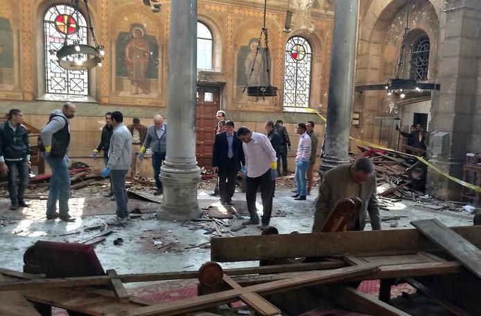 Aanslag op de koptische kathedraal van Cairo in 2016.