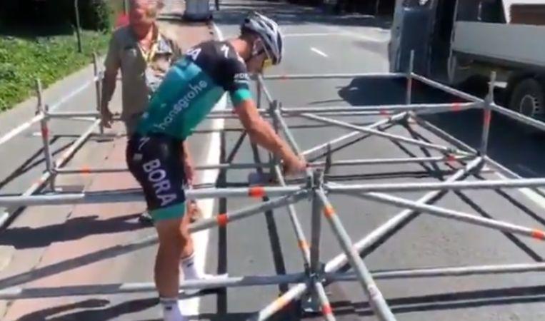 Peter Sagan timmert zelf mee aan de opbouw van de eerste Tour-rit.