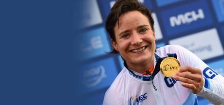 Receptie voor Europees kampioene Marianne Vos