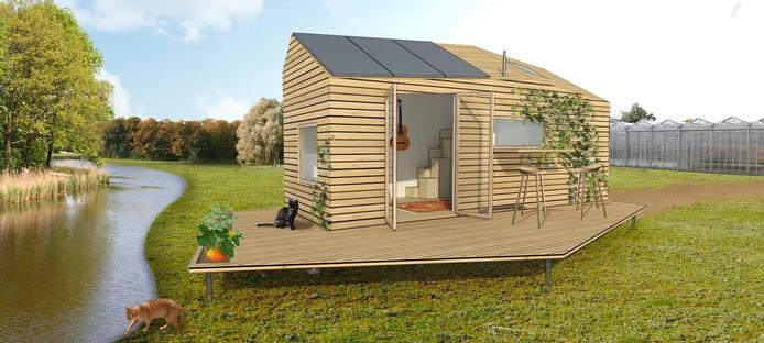Het ontwerp voor een ecologisch Tiny House, in dit geval een plan van Marjolein Jonker uit Langedijk.