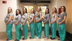 Negen verpleegsters van dezelfde kraamafdeling tegelijk zwanger