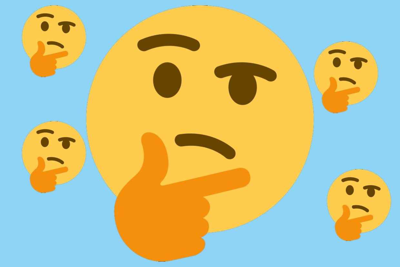 Thinking face emoji Beeld Humo