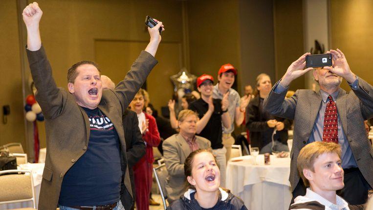Trump-aanhangers in Texas vieren feest. Beeld AFP