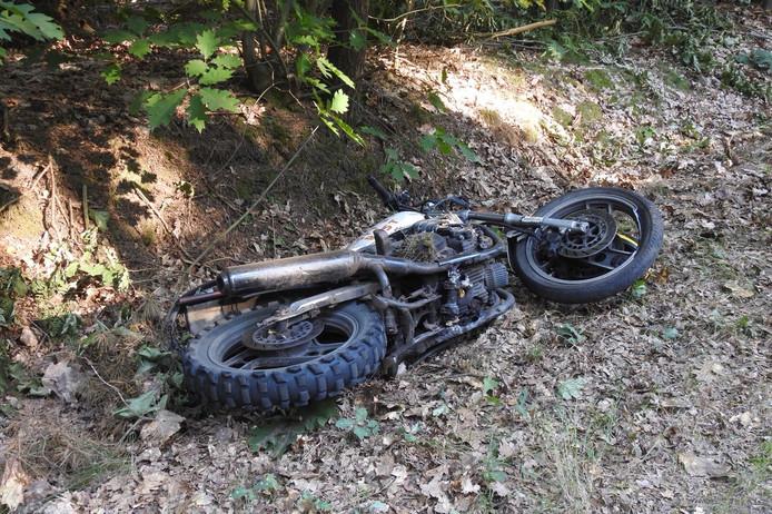 Ongeval met een motor in Bergeijk.