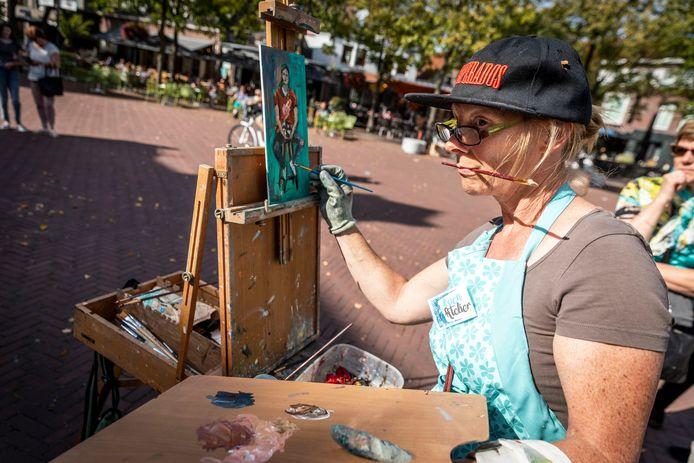 Plein Air in Deurne. Inwoners laten hun schilderkunsten zien.