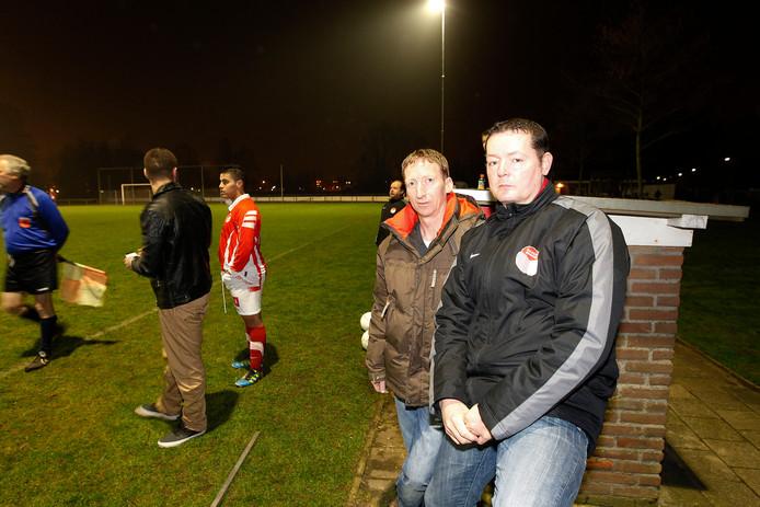 RKPVV-trainer Leon van Teeffelen (rechts)