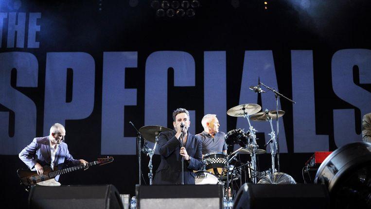 Zanger Terry Hall met zijn band The Specials Beeld ANP