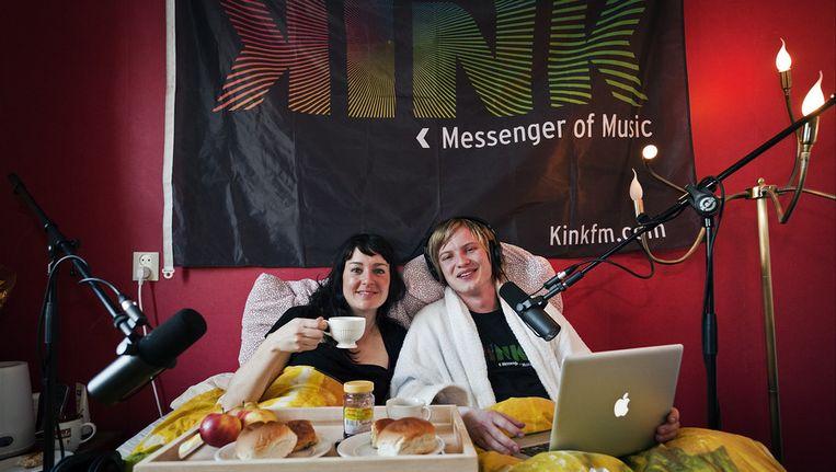 DJ's Ingrid Perez en Diederik van Zessen van Kink FM. © ANP Beeld