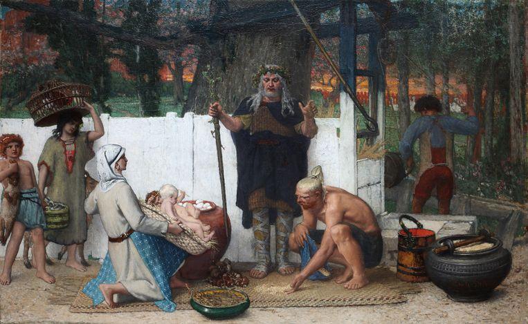 Het schilderij  van Louis Delbeke dat Ieper aankocht