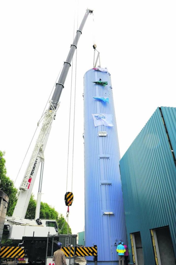 Enkele jaren geleden is bij ECCO een zuiveringsinstallatie gebouwd. Archief BN DeStem