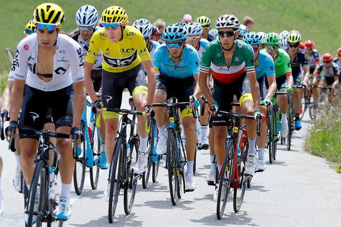 Froome in het geel tijdens de Tour van 2017