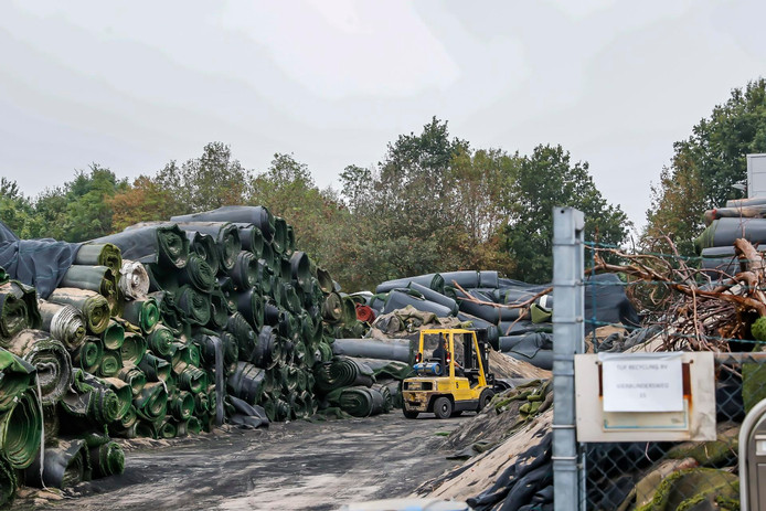 De situatie bij Tuf Recycling in Dongen is in september 2018 hetzelfde als twee jaar geleden.