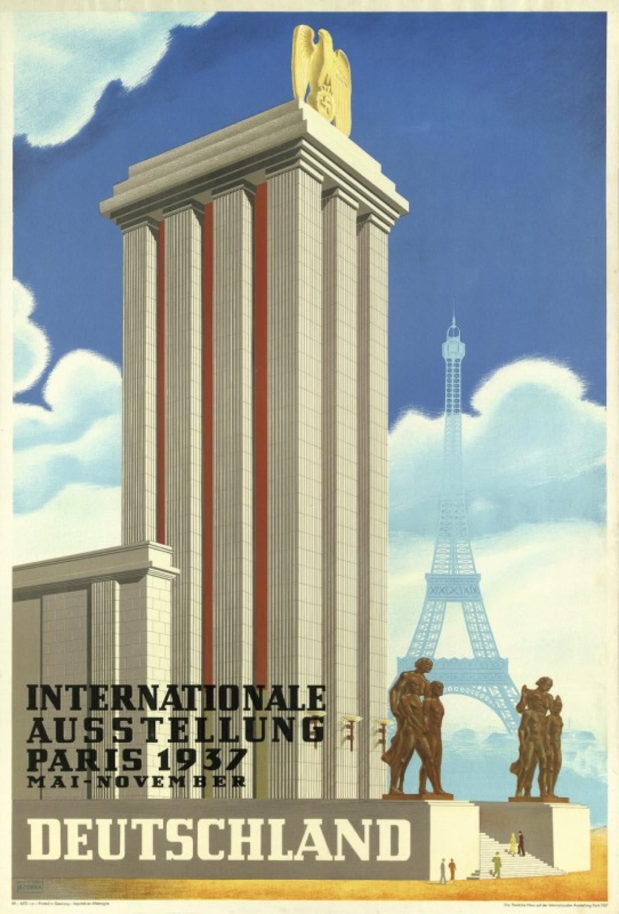 Affiche Duits paviljoen, Wereldtentoonstelling Parijs, 1937.