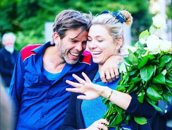 Evi Hanssen en haar partner Kurt Loyens