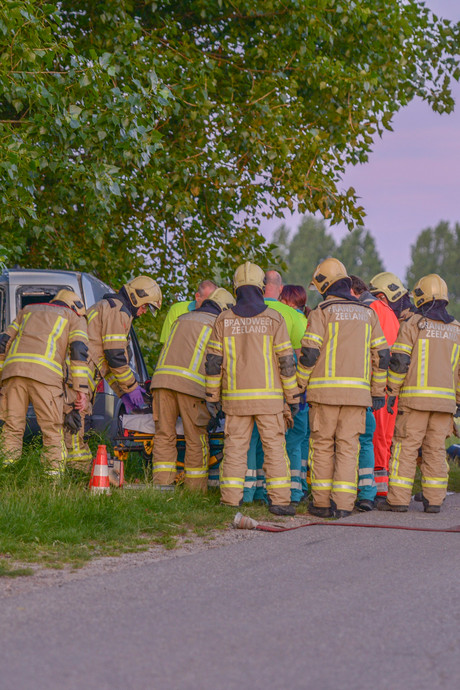 Man (29) zwaargewond na botsing met boom in Stavenisse