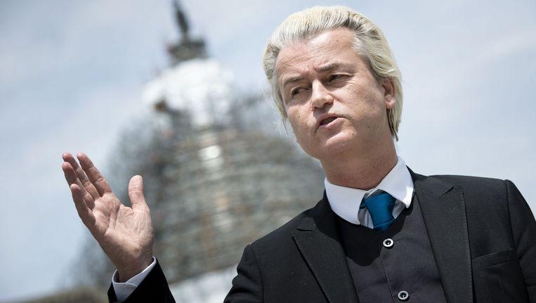 Geert Wilders in Washington. Beeld afp
