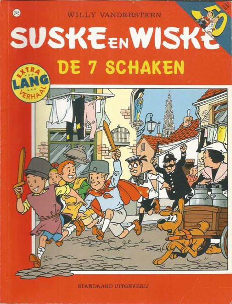 Het 'Suske en Wiske'-album is uitzonderlijk omdat Willy Vandersteen in dit verhaal zelf de hoofdrol speelt.