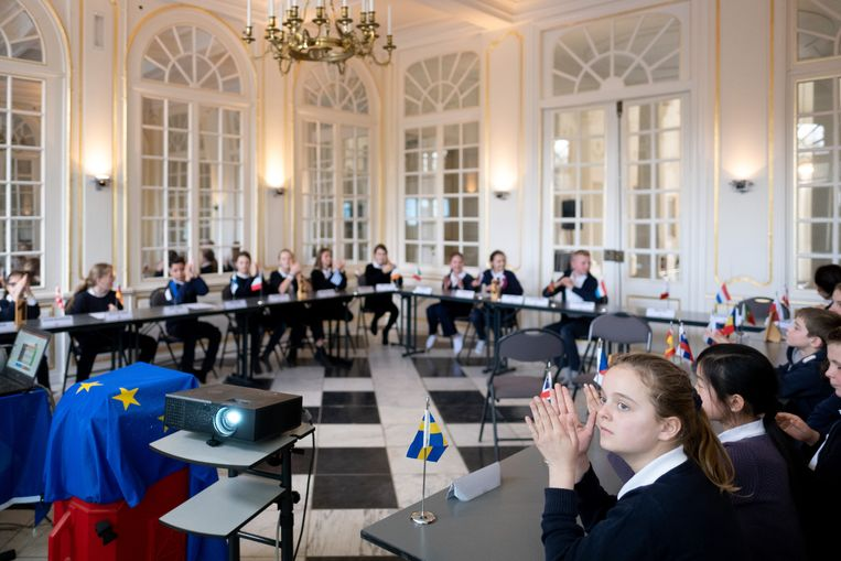 Europese ministerraad in kasteel d'Ursel.