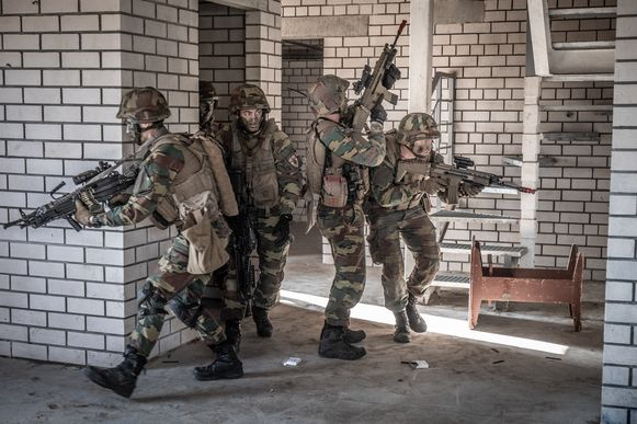 Infanterie Belgische leger tijden NAVO-missie in Litouwen.