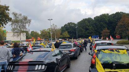 Honderden auto's onderweg naar Brussel voor protestrit Vlaams Belang