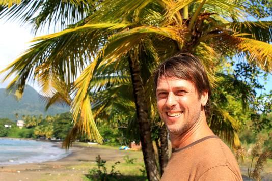 Wilco Brouwer drie jaar geleden op Dominica