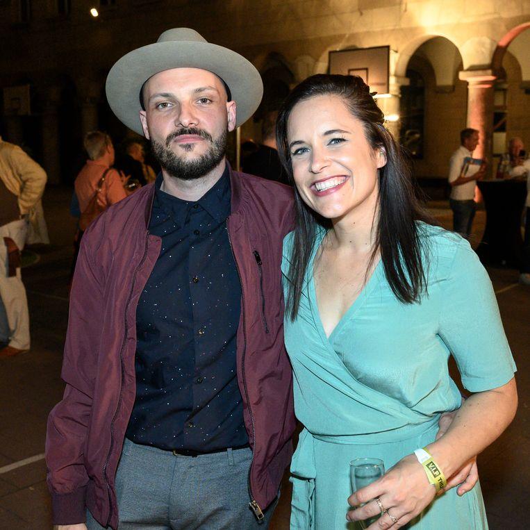 Joyce Beullens met haar partner Steven.