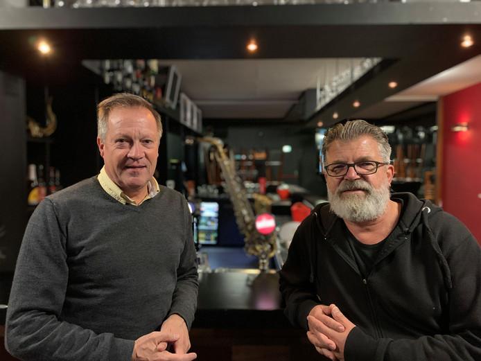Milko Huijben (links) van Hilverjazz en Bartho van Straaten, programmeur van Paradox in Tilburg, hebben opnieuw de handen ineengeslagen voor Hilverjazz in Hilvarenbeek.