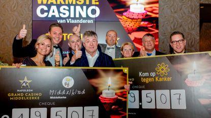 'Warmste Casino van Vlaanderen' schenkt ruim 39.000 euro aan vzw Middelkind en Kom op Tegen Kanker