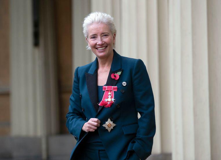 Emma Thompson werd door de prins benoemd tot dame-commandeur van het Britse Rijk.