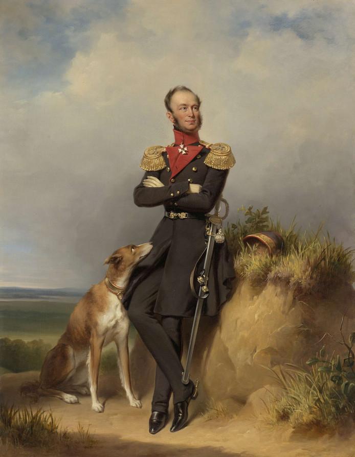 Portret van Willem II, koning der Nederlanden. Jan Adam Kruseman, 1839